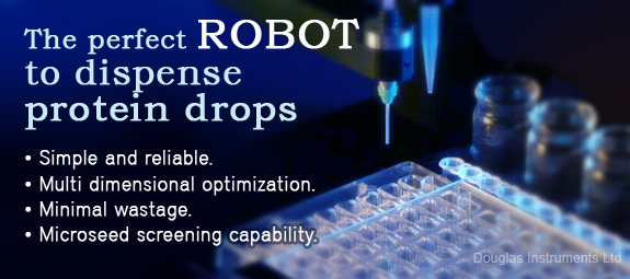ROBOT to dispense protein drops